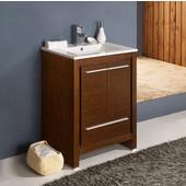 Allier 24'' Wide Wenge Brown Modern Bathroom Cabinet w/ Sink