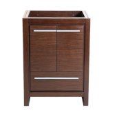 Allier 24'' Wenge Brown Modern Vanity Base Cabinet, 23-1/2'' W x 18'' D x 32-7/8'' H