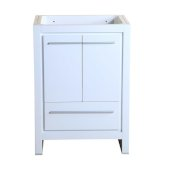 Allier 24'' White Modern Vanity Base Cabinet, 23-1/2'' W x 18'' D x 32-7/8'' H