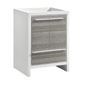 Allier Rio 30'' Ash Gray Modern Bathroom Cabinet, Cabinet Base: 29-1/2'' W x 18'' D x 32-7/8'' H