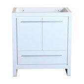 Allier 30'' White Modern Vanity Base Cabinet, 29-1/2'' W x 18'' D x 32-7/8'' H