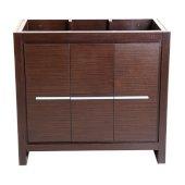 Allier 36'' Wenge Brown Modern Vanity Base Cabinet, 35-3/8'' W x 18'' D x 32-7/8'' H