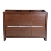 Allier 48'' Wenge Brown Modern Vanity Base Cabinet, 47-1/4'' W x 18'' D x 32-7/8'' H