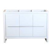 Allier 48'' White Modern Vanity Base Cabinet, 47-1/4'' W x 18'' D x 32-7/8'' H