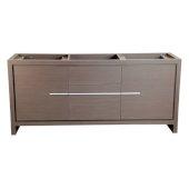 Allier 72'' Gray Oak Modern Double Sink Vanity Base Cabinet, 71-1/4'' W x 20-1/4'' D x 32-1/2'' H