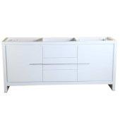 Allier 72'' White Modern Double Sink Vanity Base Cabinet, 71-1/4'' W x 20-1/4'' D x 32-1/2'' H