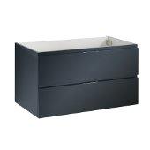 Valencia 36'' Dark Slate Gray Wall Hung Modern Bathroom Cabinet , Vanity Base: 36'' W x 19'' D x 19-11/16'' H