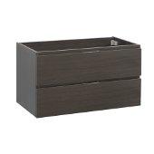 Valencia 36'' Gray Oak Wall Hung Modern Bathroom Cabinet , Vanity Base: 36'' W x 19'' D x 19-11/16'' H