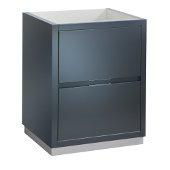 Valencia 24'' Dark Slate Gray Free Standing Modern Bathroom Cabinet , Vanity Base: 24'' W x 19'' D x 30'' H