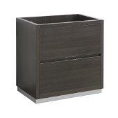 Valencia 30'' Gray Oak Free Standing Modern Bathroom Cabinet , Vanity Base: 30'' W x 19'' D x 30'' H
