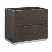 Valencia 36'' Gray Oak Free Standing Modern Bathroom Cabinet , Vanity Base: 36'' W x 19'' D x 30'' H