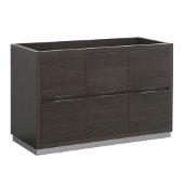 Valencia 48'' Gray Oak Free Standing Single Sink Modern Bathroom Cabinet , Vanity Base: 48'' W x 19'' D x 30'' H