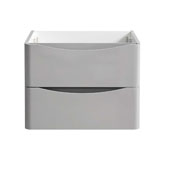 Tuscany 24'' Wall Hung Single Bathroom Vanity Cabinet in Glossy Gray Finish, 23-1/2'' W x 18-4/5'' D x 17-7/10'' H