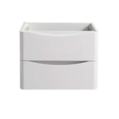 Tuscany 24'' Wall Hung Single Bathroom Vanity Cabinet in Glossy White Finish, 23-1/2'' W x 18-4/5'' D x 17-7/10'' H