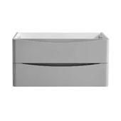Tuscany 36'' Wall Hung Single Bathroom Vanity Cabinet in Glossy Gray Finish, 35-3/10'' W x 18-4/5'' D x 17-7/10'' H