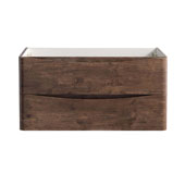 Tuscany 36'' Wall Hung Single Bathroom Vanity Cabinet in Rosewood Finish, 35-3/10'' W x 18-4/5'' D x 17-7/10'' H