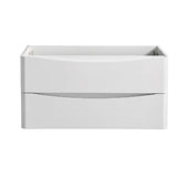 Tuscany 36'' Wall Hung Single Bathroom Vanity Cabinet in Glossy White Finish, 35-3/10'' W x 18-4/5'' D x 17-7/10'' H
