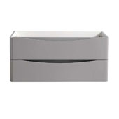 Tuscany 40'' Wall Hung Single Bathroom Vanity Cabinet in Glossy Gray Finish, 39-3/10'' W x 18-4/5'' D x 17-7/10'' H