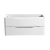 Tuscany 40'' Wall Hung Single Bathroom Vanity Cabinet in Glossy White Finish, 39-3/10'' W x 18-4/5'' D x 17-7/10'' H