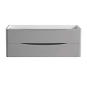 Tuscany 48'' Wall Hung Double Bathroom Vanity Cabinet in Glossy Gray Finish, 47-1/10'' W x 18-4/5'' D x 17-7/10'' H