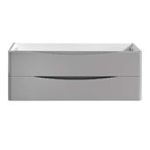 Tuscany 48'' Wall Hung Single Bathroom Vanity Cabinet in Glossy Gray Finish, 47-1/10'' W x 18-4/5'' D x 17-7/10'' H