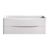 Tuscany 48'' Wall Hung Single Bathroom Vanity Cabinet in Glossy White Finish, 47-1/10'' W x 18-4/5'' D x 17-7/10'' H