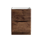 Tuscany 24'' Freestanding Single Bathroom Vanity Cabinet in Rosewood Finish, 23-1/2'' W x 18-4/5'' D x 31-1/2'' H
