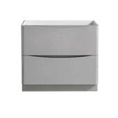 Tuscany 36'' Freestanding Single Bathroom Vanity Cabinet in Glossy Gray Finish, 35-3/10'' W x 18-4/5'' D x 31-1/2'' H