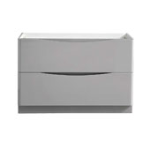 Tuscany 48'' Freestanding Double Bathroom Vanity Cabinet in Glossy Gray Finish, 47-1/10'' W x 18-4/5'' D x 31-1/2'' H