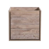 Catania 24'' Wall Hung Single Bathroom Vanity Cabinet in Rustic Natural Wood Finish, 23-3/5'' W x 18-2/5'' D x 22-4/5'' H