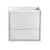 Catania 24'' Wall Hung Single Bathroom Vanity Cabinet in Glossy White Finish, 23-3/5'' W x 18-2/5'' D x 22-4/5'' H
