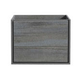 Catania 30'' Wall Hung Single Bathroom Vanity Cabinet in Ocean Gray Finish, 29-3/5'' W x 18-2/5'' D x 22-4/5'' H