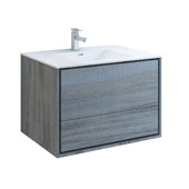 Catania 36'' Wall Hung Single Bathroom Vanity Cabinet with Integrated Sink in Ocean Gray Finish, 35-3/5'' W x 18-1/2'' D x 23-1/5'' H
