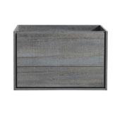 Catania 36'' Wall Hung Single Bathroom Vanity Cabinet in Ocean Gray Finish, 35-2/5'' W x 18-2/5'' D x 22-4/5'' H