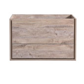 Catania 36'' Wall Hung Single Bathroom Vanity Cabinet in Rustic Natural Wood Finish, 35-2/5'' W x 18-2/5'' D x 22-4/5'' H