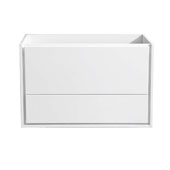 Catania 36'' Wall Hung Single Bathroom Vanity Cabinet in Glossy White Finish, 35-2/5'' W x 18-2/5'' D x 22-4/5'' H