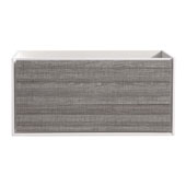 Catania 48'' Wall Hung Double Bathroom Cabinet in Glossy Ash Gray Finish, 47-1/10'' W x 18-2/5'' D x 22-4/5'' H