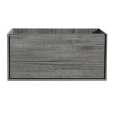 Catania 48'' Wall Hung Double Bathroom Cabinet in Ocean Gray Finish, 47-1/10'' W x 18-2/5'' D x 22-4/5'' H