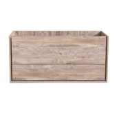 Catania 48'' Wall Hung Double Bathroom Cabinet in Rustic Natural Wood Finish, 47-1/10'' W x 18-2/5'' D x 22-4/5'' H