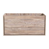 Catania 48'' Wall Hung Single Bathroom Vanity Cabinet in Rustic Natural Wood Finish, 47-1/10'' W x 18-2/5'' D x 22-4/5'' H
