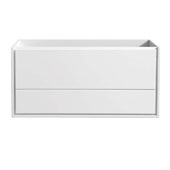Catania 48'' Wall Hung Double Bathroom Cabinet in Glossy White Finish, 47-1/10'' W x 18-2/5'' D x 22-4/5'' H
