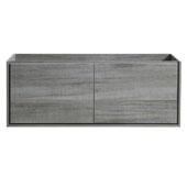 Catania 60'' Wall Hung Single Bathroom Vanity Cabinet in Ocean Gray Finish, 59-1/10'' W x 18-2/5'' D x 22-4/5'' H