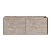 Catania 60'' Wall Hung Single Bathroom Vanity Cabinet in Rustic Natural Wood Finish, 59-1/10'' W x 18-2/5'' D x 22-4/5'' H