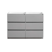 Lazzaro 48'' Freestanding Double Modern Bathroom Vanity Cabinet in Gray, 47-3/10'' W x 18-2/5'' D x 34-3/10'' H
