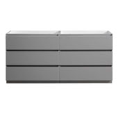 Lazzaro 72'' Freestanding Double Bathroom Vanity Cabinet in Gray Finish, 71'' W x 18-2/5'' D x 34-3/10'' H
