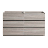 Lazzaro 72'' Freestanding Double Bathroom Vanity Cabinet in Gray Wood Finish, 71'' W x 18-2/5'' D x 34-3/10'' H