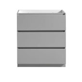 Lazzaro 30'' Freestanding Single Bathroom Vanity Cabinet in Gray Finish, 29-1/2'' W x 18-2/5'' D x 34-3/10'' H