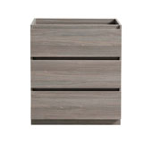 Lazzaro 30'' Freestanding Single Bathroom Vanity Cabinet in Gray Wood Finish, 29-1/2'' W x 18-2/5'' D x 34-3/10'' H