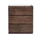 Lazzaro 30'' Freestanding Single Bathroom Vanity Cabinet in Rosewood Finish, 29-1/2'' W x 18-2/5'' D x 34-3/10'' H