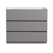 Lazzaro 42'' Freestanding Single Bathroom Vanity Cabinet in Gray Finish, 39-3/10'' W x 18-2/5'' D x 34-3/10'' H